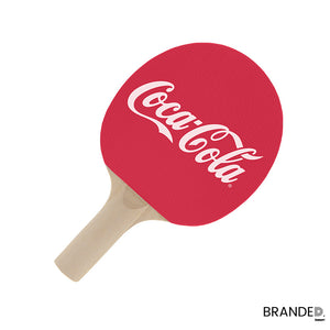 custom promotional ping-pong paddle promo branded design your own bat coca-cola