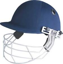 blue wire mask custom branded promotional cricket helmet