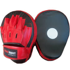 custom branded promotional focus pads red black
