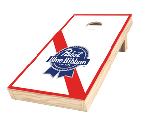 promotional cornhole blue ribbon beer