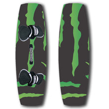 Load image into Gallery viewer, Black and green promotional kiteboard custom design your own branded