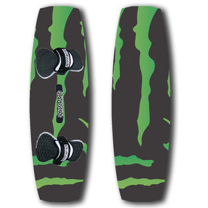 Black and green promotional kiteboard custom design your own branded