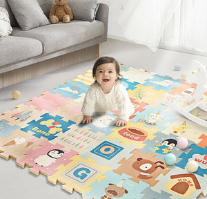 9pcs Baby's Retro Design Puzzle Activity Floor Mat