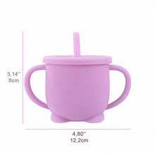 Load image into Gallery viewer, Baby's Silicone Leakproof Cup & Straw