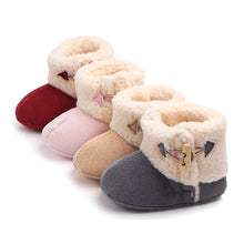 Load image into Gallery viewer, Baby Winter Suede Faux Fur Shoes