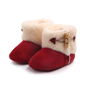 Baby Winter Suede Faux Fur Shoes
