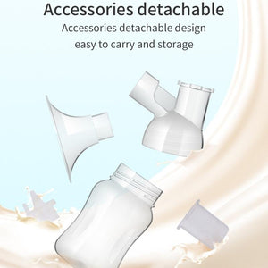 MYD BABY Portable Single Breast Pump + Milk Collector+ Milk Natural Collector + 1 Pair Wearable Cups