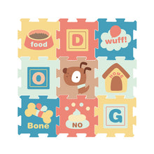 Load image into Gallery viewer, 9pcs Baby's Retro Design Puzzle Activity Floor Mat