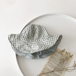 Baby's Reversible Plaid Hat