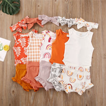 Load image into Gallery viewer, 3pcs Boho Summer Baby Outfit