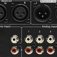 RCA and XLR Analog Inputs