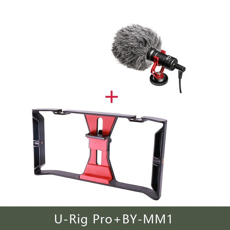 Ulanzi U-Rig Pro Smartphone Video Rig w 3 Shoe Mounts Filmmaking Case Handheld Phone Stabilizer Grip Tripod Mount Stand