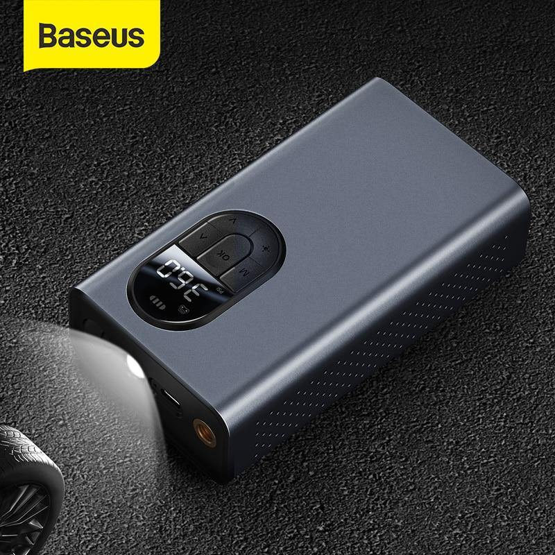 Baseus Car Wireless Electric Air Pump Compressor Inflator LED Lamp For Car Motorcycle Bicycle Tire Inflatable