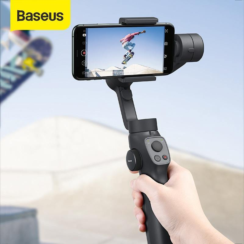 Baseus Handheld Gimbal Stabilizer 3-Axis Wireless Bluetooth Phone Holder Auto Motion Tracking