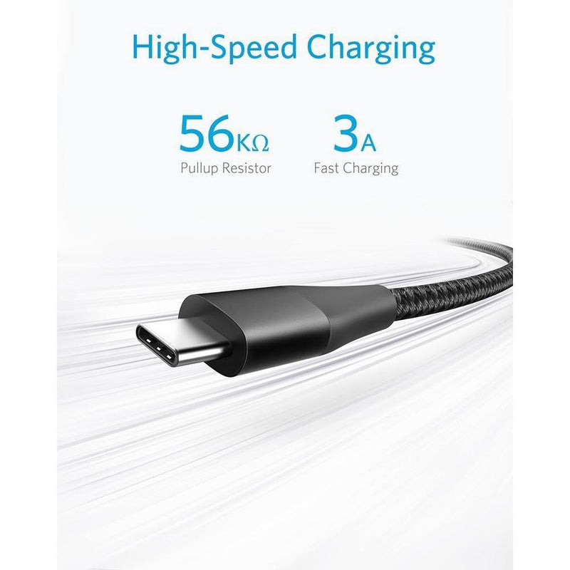 Anker Powerline+ II USB-C to USB-A Cable for Samsung Galaxy S10 / S9 / S9+ / S8/S8+ - asmpick