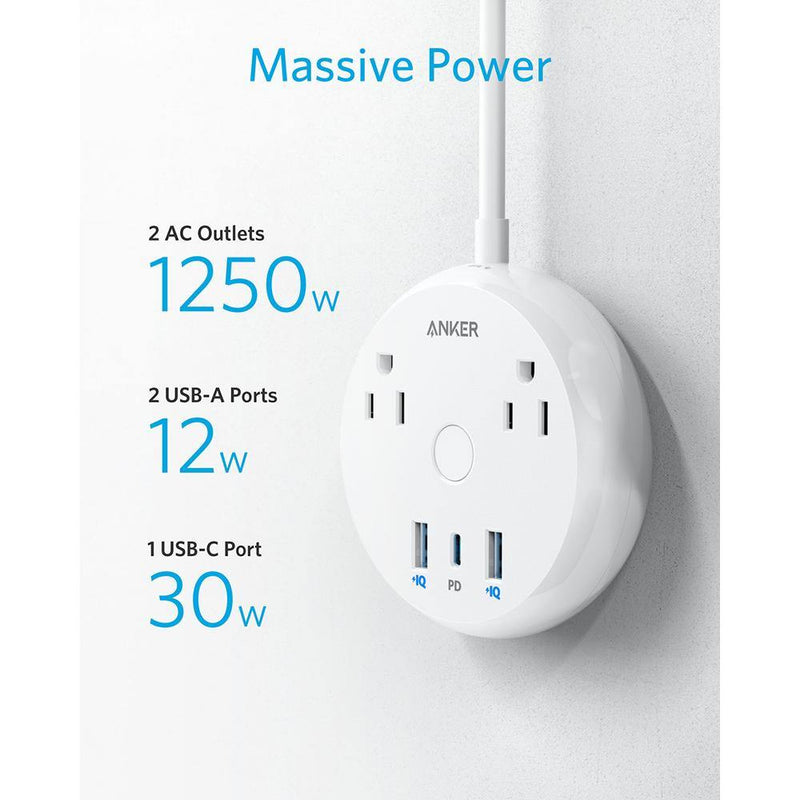 Anker PowerStrip Pad,USB-C Power Strip with Power Delivery - asmpick