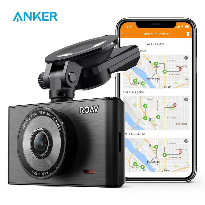 Anker Roav Dash Cam C2 Pro with FHD 1080p,Sony Starvis Sensor,4-Lane Wide-Angle Lens,GPS Logging,Wi-Fi,Dedicated App,G-Sensor - asmpick