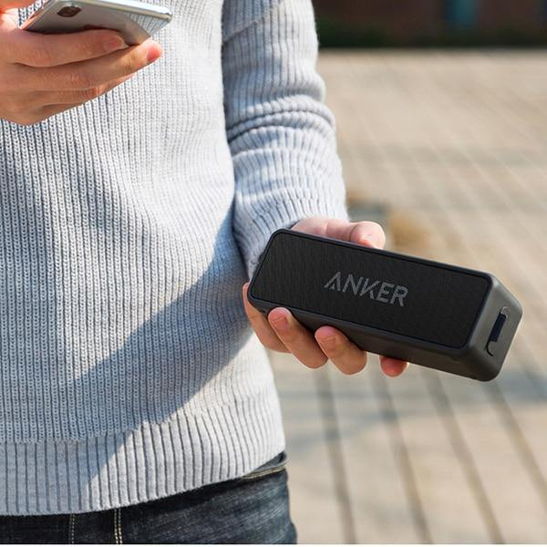 Anker SoundCore 2 Portable Bluetooth Wireless Speaker IPX7 Water Resistance - asmpick