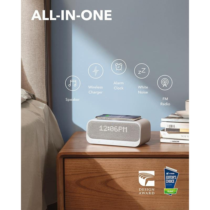 Anker Soundcore Wakey Bluetooth Speakers Powered by Anker with Alarm Clock - asmpick