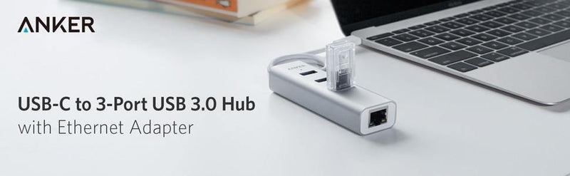 Anker USB C Hub,4-in-1 Aluminum Adapter with Ethernet - asmpick