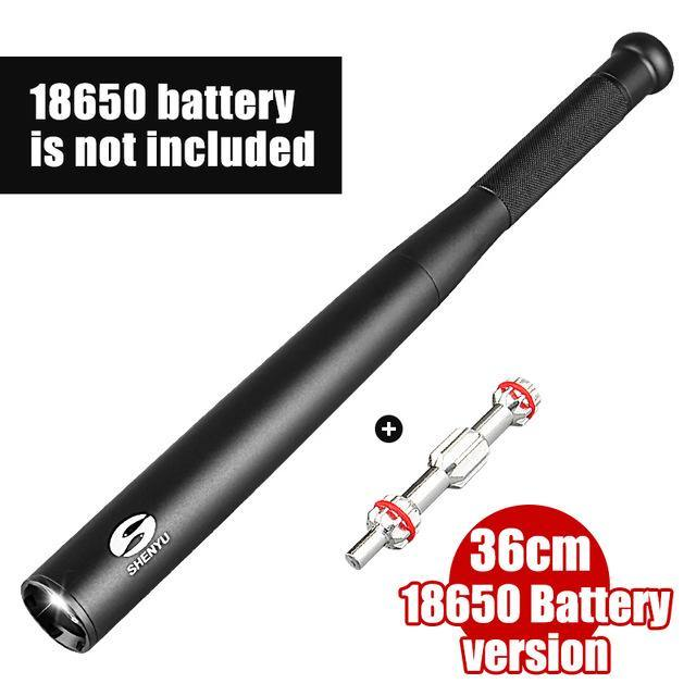 Baseball Bat LED Flashlight 450 Lumens Super Bright Baton Torch and Self Defense - asmpick