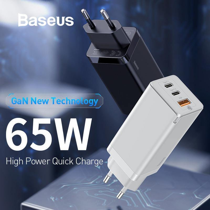 Baseus 65W GaN Fast Charger with Quick Charge 4.0 3.0 - asmpick