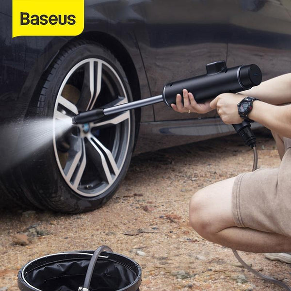 Baseus Car Water Gun Washer High Pressure Cleaner Auto Spray Washing Machine Electric Cleaning - asmpick