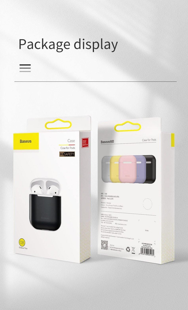 Baseus Earphone Case For AirPods Colorful Silicone Cover For AirPods 2 1 Case - asmpick