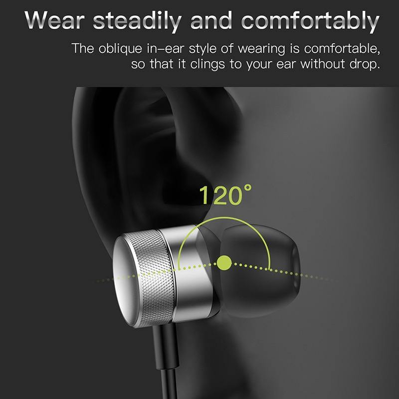 Baseus H04 Bass Sound Earphone In-Ear Sport with mic for Xiaomi iPhone Samsung Headset - asmpick