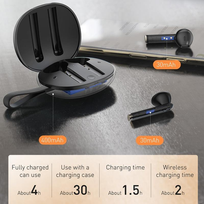 Baseus W05 TWS Bluetooth Headphones Wireless True Wireless HD Earbud Stereo Earphone In Ear Headset For iPhone - asmpick