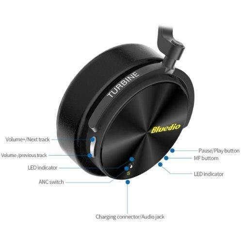 Bluedio T5S Active Wireless Bluetooth Noise Cancelli Headphones with microphone - asmpick