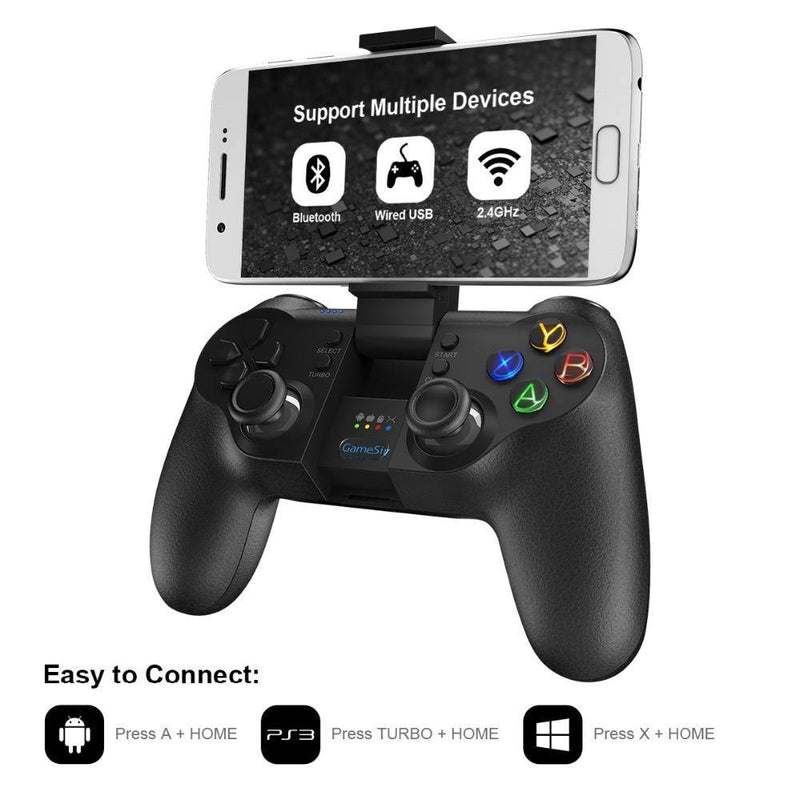 GameSir T1s Bluetooth 4.0 / 2.4GHz Wireless nes Gamepad Game Controller - asmpick