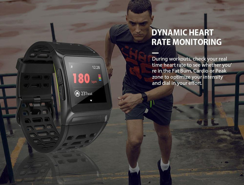 Makibes BR1 GPS ECG PPG Smart Watch Bluetooth Strava Sport Fitness Tracker Wearable - asmpick