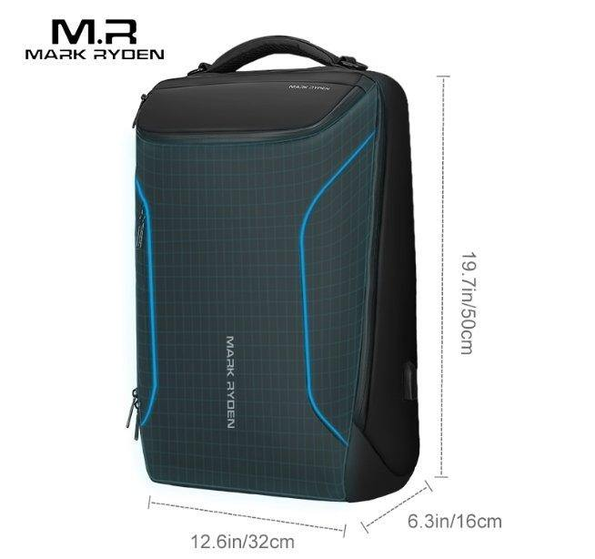 Mark Ryden Business Backpack 15.6 inch Anti Theft Fashion Men Waterproof USB - asmpick