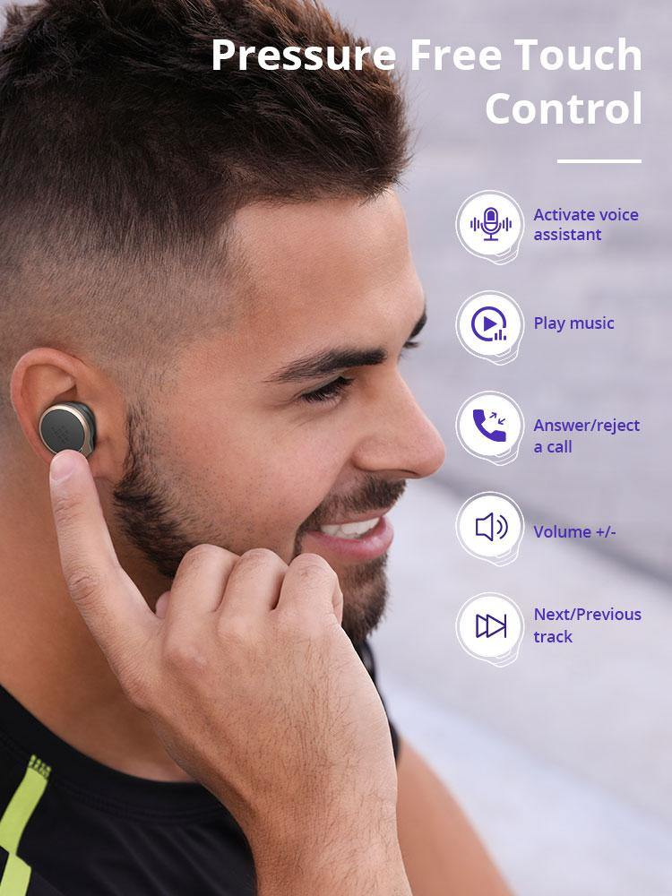 Tronsmart Apollo Bold TWS Earbuds ANC(Active Noise Cancelling) Bluetooth Wireless Earphones with QualcommChip QCC5124, Apt-X - asmpick