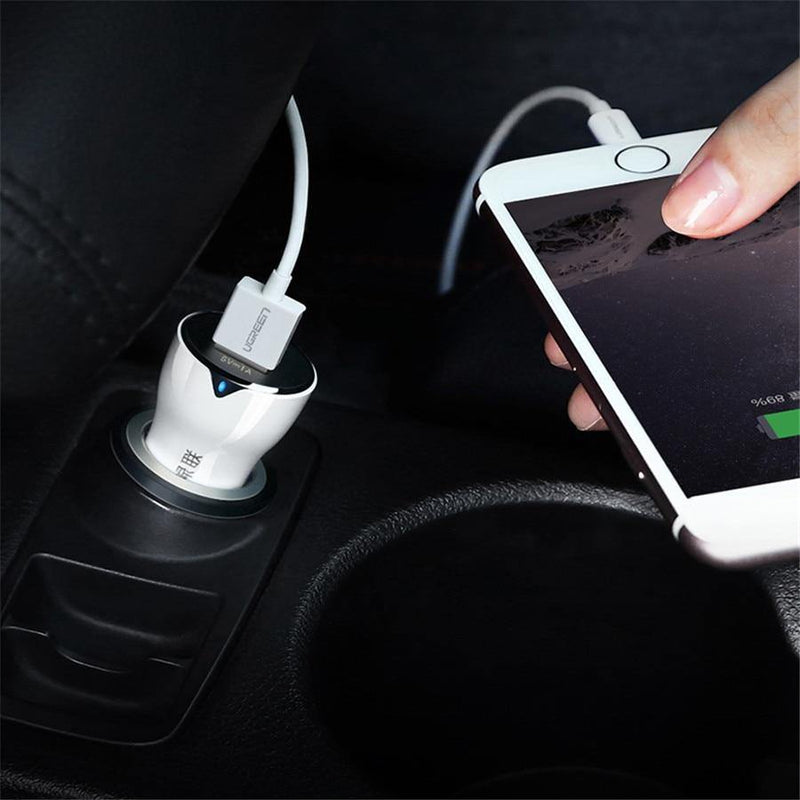 Ugreen High Quality 24W 4.8A Fast Car Charger For Xiaomi Samsung Galaxy - asmpick