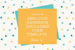 Employee Handbook Acknowledgement / Disclaimer Form Template