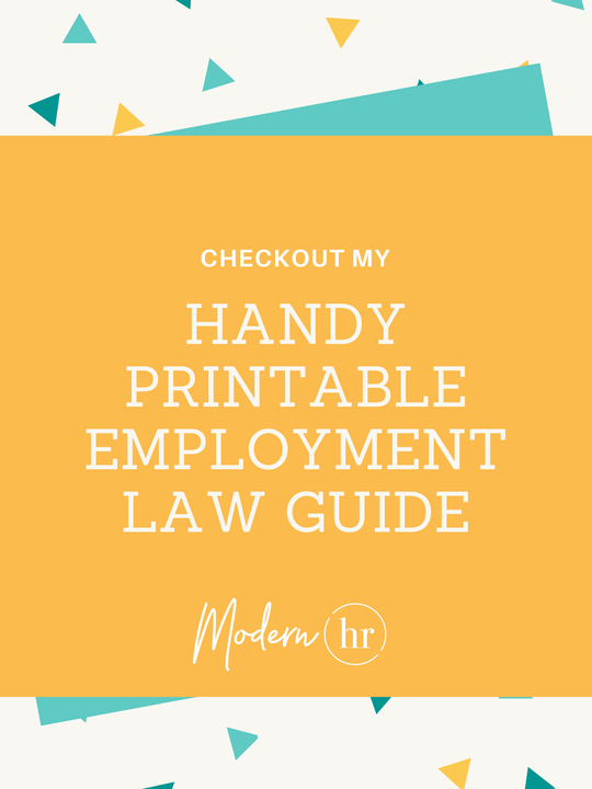 Handy Employment Law Printable Guide