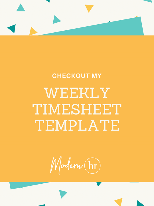 Weekly Timesheet Template - for Contractors