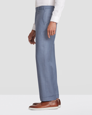 Devon Flat Front Sharkskin Trousers