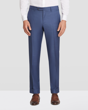 Curtis Slim Fit Flat Front Sharkskin Trousers