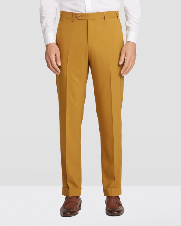 Devon Flat Front, Hgh twist Wool Surge Trousers