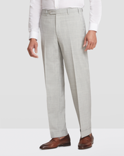 Todd Plainweave Flat Front Wool Trousers