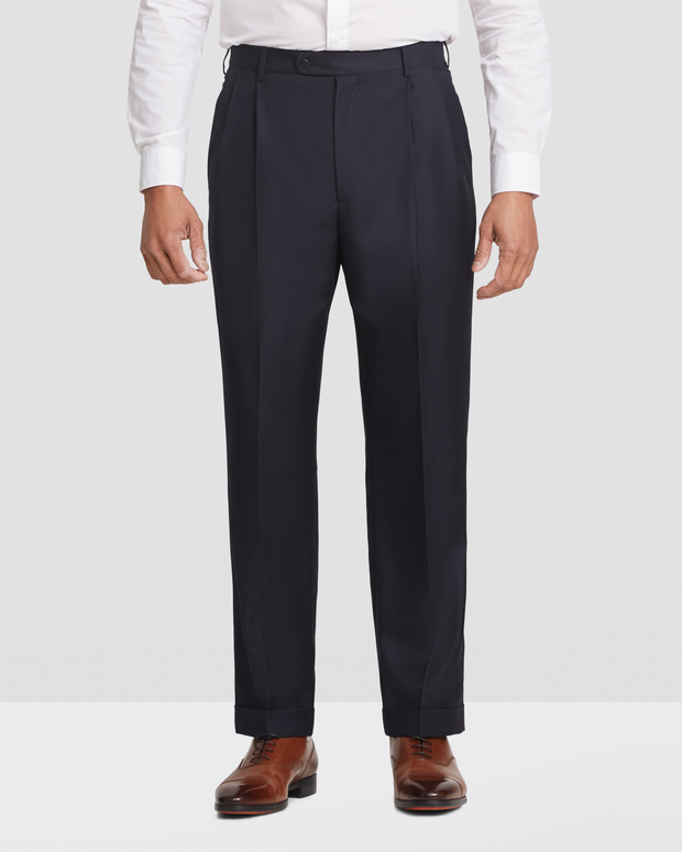 Bennett Wool Double Pleated Trousers