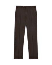 Devon Flat Front Wool Serge Trousers