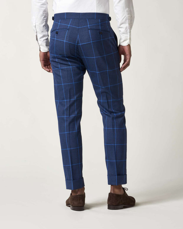 Nate Windowpane Side Tab Trouser