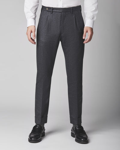 Will Pleated  Stretch Flannel Trousers