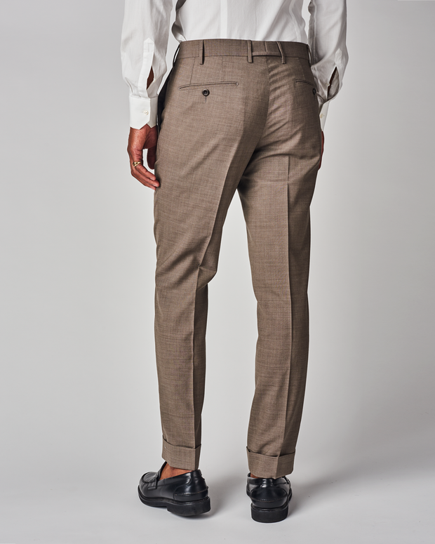 Curtis Plain Weave Stretch Wool Trouser