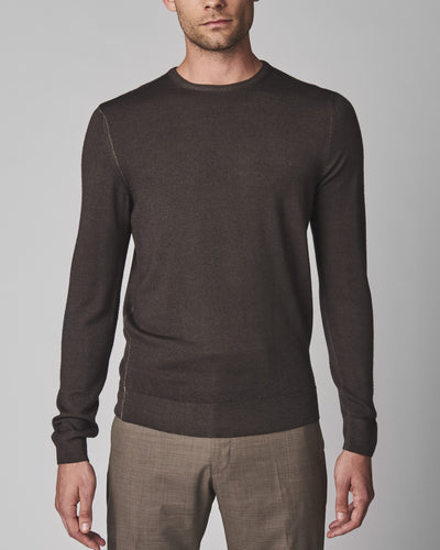 Washed Merino Crewneck Sweater