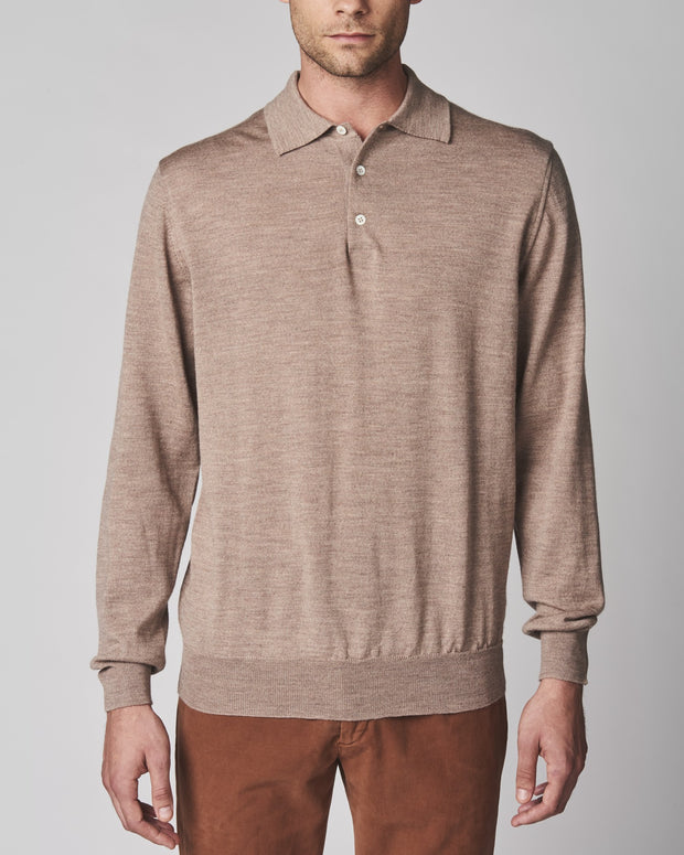 Merino Basic Long Sleeve Polo